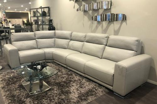 New! 5 Pc. Leather Sectional With Motion