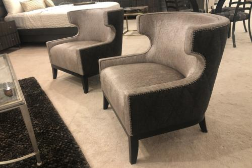 Transitional Chairs With Nail Head Trim