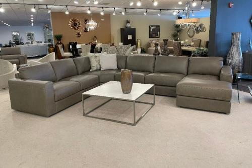New! 4 Pc. Leather Sectional