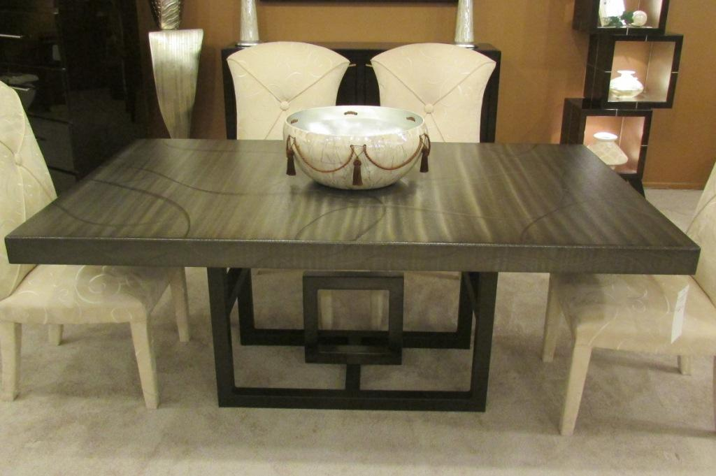 Metal dining table for Unusual shaped dining tables
