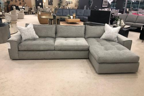 2 Pc. Sectional With Tufted Seats