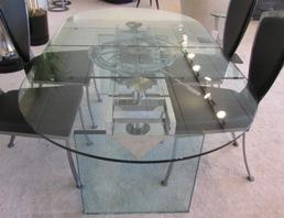 New! Glass Extension Dining Table
