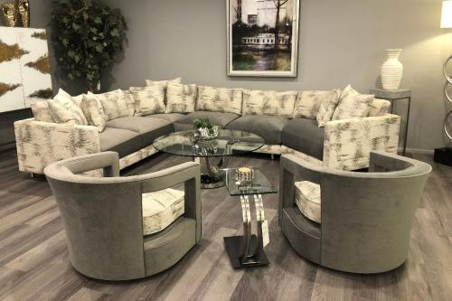 4 Pc. Sectional & Occasional Chairs