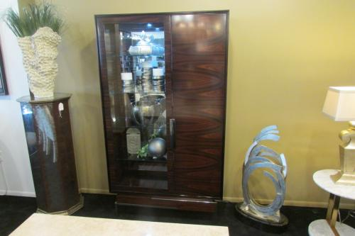 New! Wood Display Cabinet