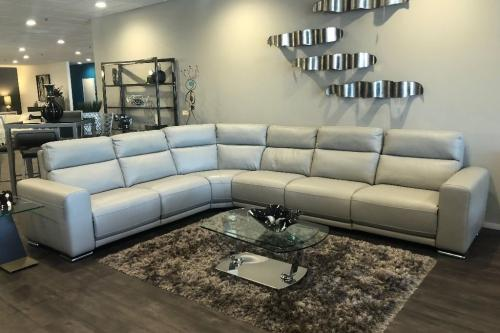 6 Pc. Leather Sectional With Motion