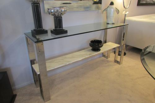 New! Marble Console Table