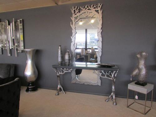 New! Hand Painted Console & Mirror