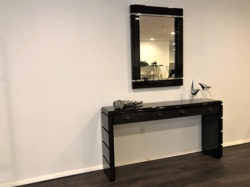 New! Wood Mirror & Console