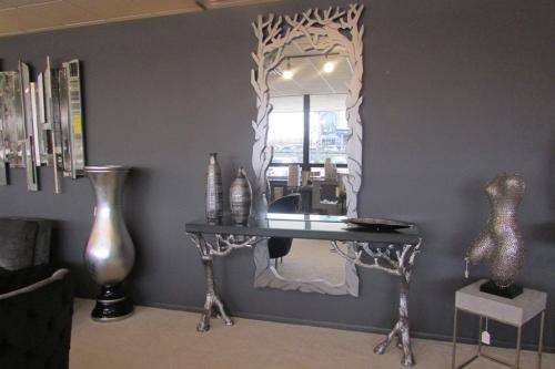 Hand Painted Console & Mirror