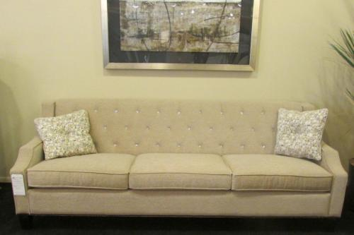 Sofa With Tufted Back And Swarovski Crystals