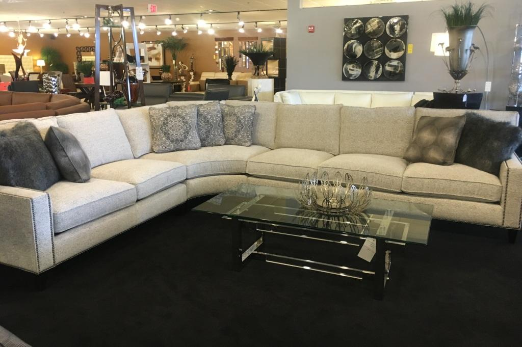 Sectional with nailhead trim hathaway leather sectional for Hathaway furniture new york