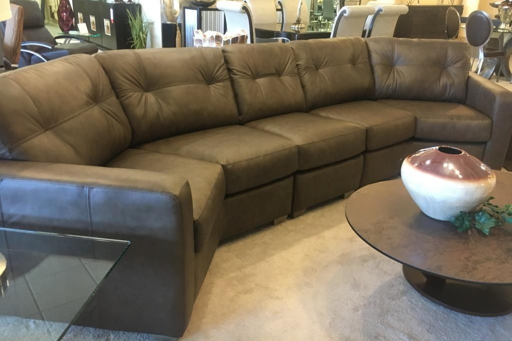 3 Pc Leather Sectional