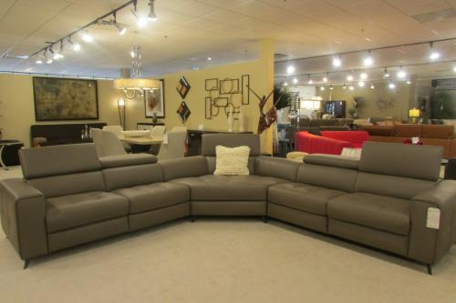 New! 3 Pc. Leather Sectional With Motion