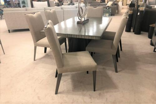 New! Dining Chairs With Metal Trim