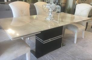 New! Marble Extension Dining Table
