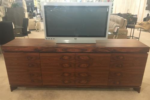 New! Wood Media Cabinet