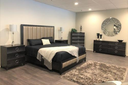 Wood Bedroom With NEW Custom Bed