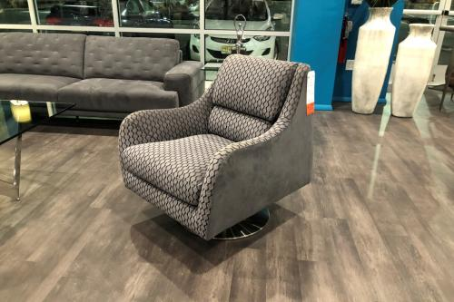 Swivel Chair In Combination Fabric