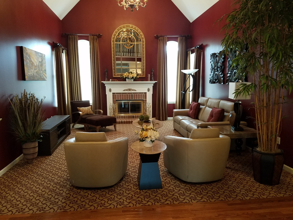 Transitional Family Room Designed By Simonne Pojawa