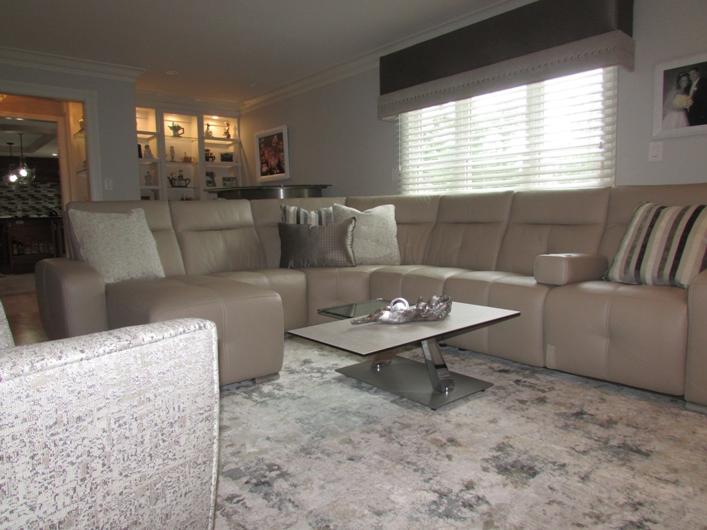 Marlboro, NJ Family Room Designed By Sheryl Rothman